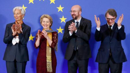Кристин Лагард, Урсула Фон Дер Лайен, Шарл Мишел и Давид Сасоли отбелязват 20-годишнината от Лисабонския договор