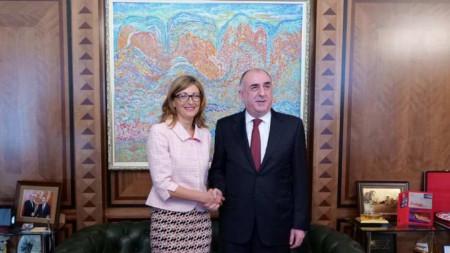 Екатерина Захариева и Эльмар Мамедъяров