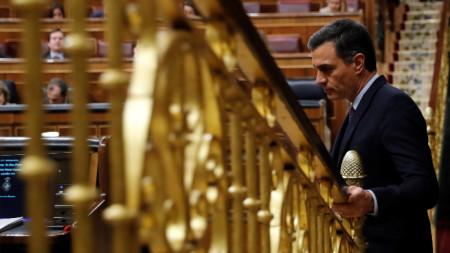 Педро Санчес в парламента на Испания