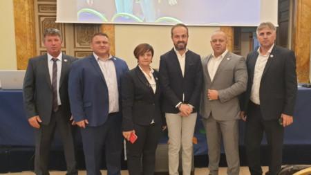 Председателят на  УНИТАБ-ЕВРОПА Цветан Филев е вторият отдясно