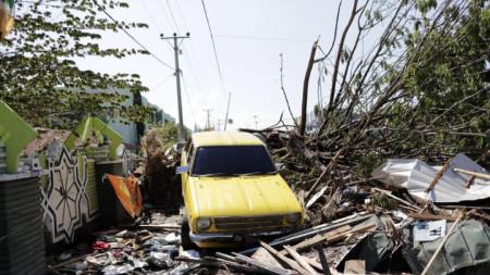 Последици от земетресението и последвалото цунами в крайбрежния град Палу на индонезийския остров Сулавеси.