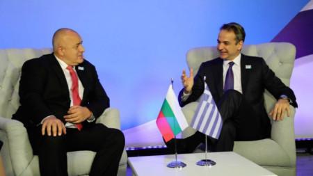 Бойко Борисов и Кириакос Мицотакис на една от срещите им.