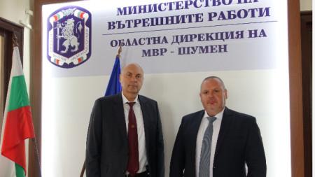Ст. комисар Владислав Мишев - вдясно