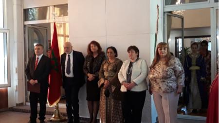 Почетните гости  в резиденцията на Кралство Мароко по време на събитието