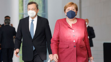 Марио Драги и Ангела Меркел