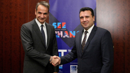 Кириакос Мицотакис със Зоран Заев