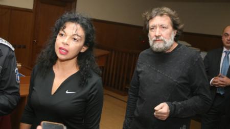 Николай и Евгения Баневи в Специализирания наказателен съд на заседанието му на 7 декември в София.