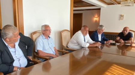 Среща на Бойко Борисов с президента на КНСБ Пламен Димитров и представители на синдикатите на