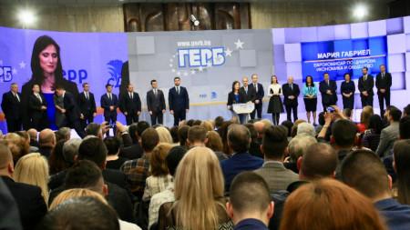 ГЕРБ и СДС представят кандидатите си за членове на Европейския парламент.