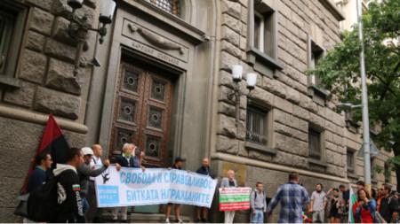 Blockade vor der Zentralen Wahlkommission