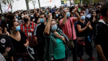 Недоволни испанци протестират срещу мерките