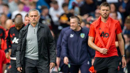 Карик (вдясно) ще води тренировката на Манчестър Юнайтед днес.