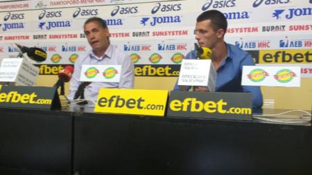 Виктор Карагьозов (вляво) и Светослав Станков