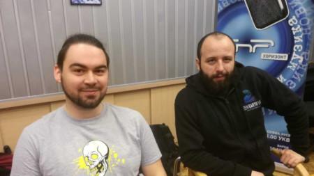 Авторите на проекта в студиото на програма