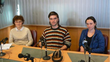 Проф. д-р Росица Николова, Александър Николов и Тотка Тодорова (отляво надясно)