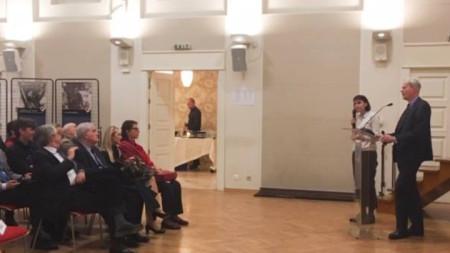 """Посланикът на Франция Ерик Льобедел откри тази седмица изложбата """"Клемансо, военен предводител""""."""