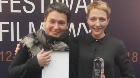 Мартина Апостолова (вдясно) с режисьорката Надежда Косева.