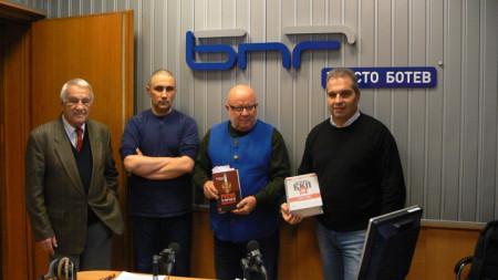 От ляво надясно: проф. Никола Алтънков, Асен Генов, Румен Леонидов и Гроздан Караджов