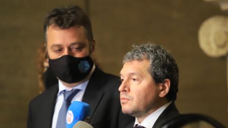 Тошко Йорданов (вдясно) и Филип Станев от ИТН