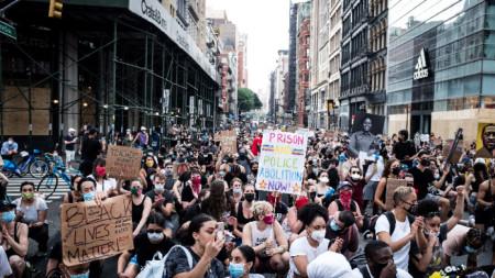 Протест след смъртта на Джордж Флойд.
