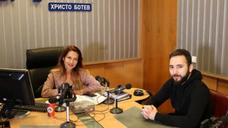 "Ива Дойчинова и Иван Кънчев в студиото на програма ""Христо Ботев"""