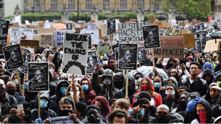Протестът в Лондон