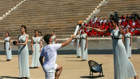 Огънят ще бъде запален в Олимпия на 12 март.