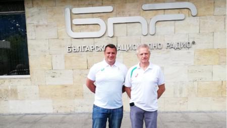 Христо Денев (вляво) и Антони Йорданов.