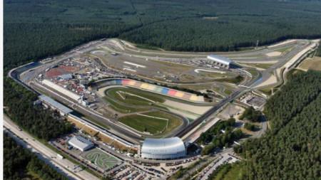 Пистата Хокенхайм в Германия.
