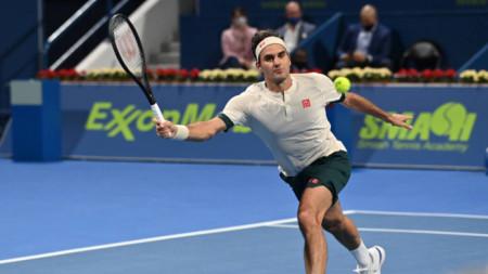 Роджър Федерер игра само в Доха тази година.