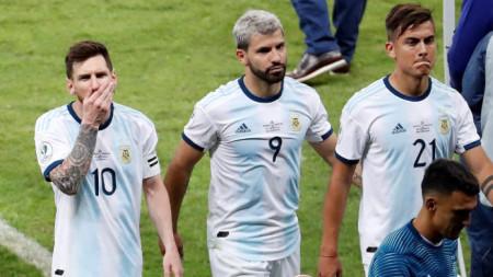 Меси, Агуеро и Дибала страдат след загубата от Бразилия.