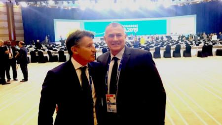 Себастијан Коу и Добромир Карамаринов у Дохи