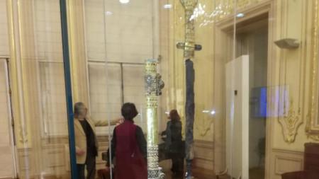 Мечът на Хан Кубрат в Националната галерия в София.