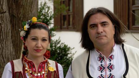Димитър Аргиров с дуетната си половинка Соня Чакърова