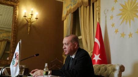 Президентът на Турция Реджеп Тайип Ердоган
