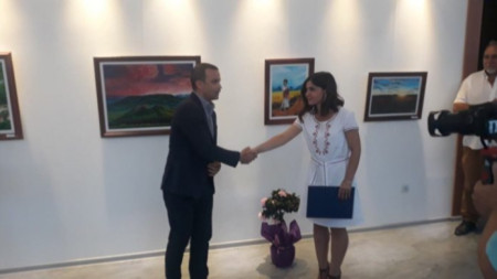 Откриване на изложбата на Наталия Стоянова в Сандански