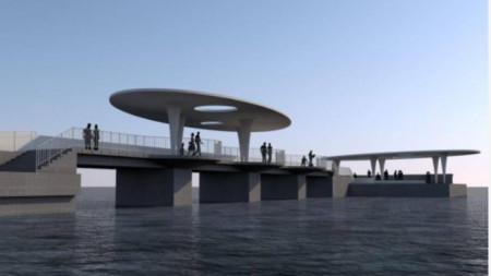 Проектът за мостика на Рибарския плаж