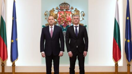 Rumen Radev dhe Vlladica Dimitrov