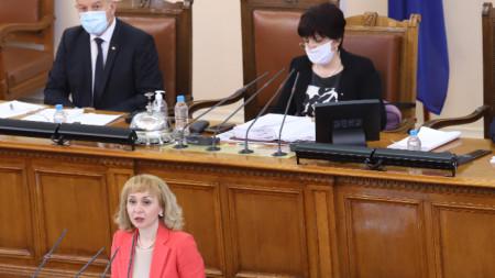 Диана Ковачева пред народните представители