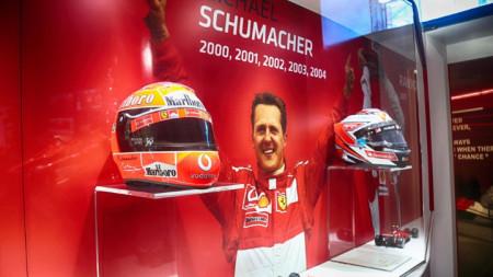 Част от изложбата в музея на Ферари в Маранело.