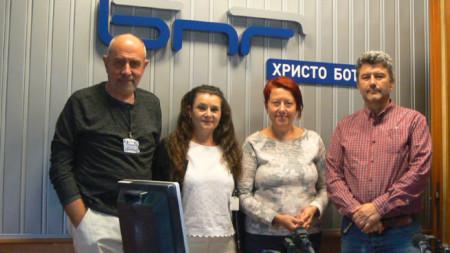 Владимир Диков, Надежда Неделчева, Венета Гаврилова и Асен Великов (от ляво надясно)
