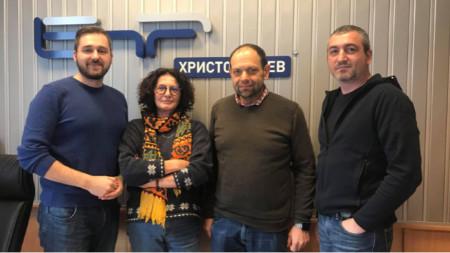 Александър Кръстев, Михайлина Павлова, Константин Павлов- Комитата и Борислав Сестрински (отляво надясно)