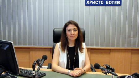 Н.Пр. г-жа Наргиз Гурбанова в студиото на предаването
