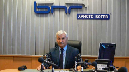 Алекси Кесяков в студио на БНР