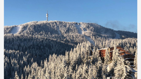 Bulgaria's winter resort Pamporovo in the Rhodope Mountain
