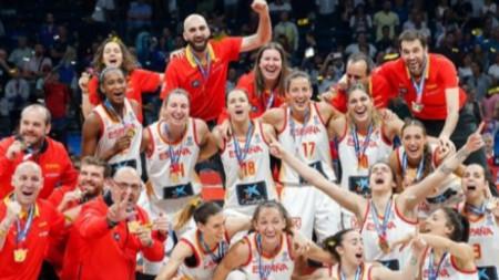 Баскетболистките на Испания станаха европейски шампион