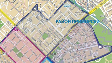 Карта с обхвата на