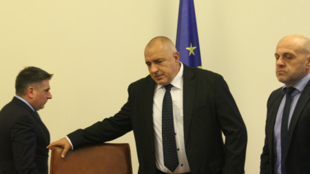 Премиерът Бойко Борисов, вицепремиерът Томислав Дончев и министърът на правосъдието Данаил Кирилов