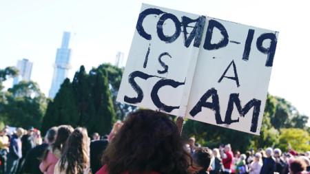 Протест срещу задължителната ваксинация, Мелбърн, 30 май 2020 г.