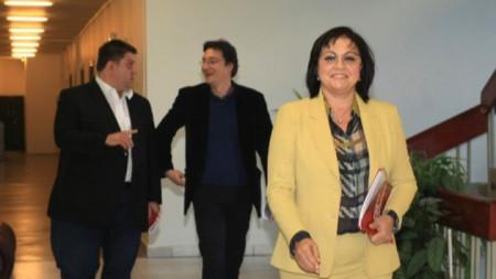 """Ръководството на НС на  БСП и ръководството на ПГ на """"БСП за България"""" проведе среща в централата на БСП с представители на Националното сдружение на общинските болници."""